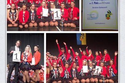 Wir gratulieren den HCG Girlies zum 1. Platz beim 2. Garde- und Showtanztunier der  VFR Blau-Gold Kevelaer e.V.