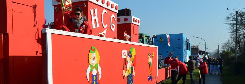 HCG Hasselt Karneval 2015 in Hasselt - Bedburg Hau - Kleve Karnevalswagen